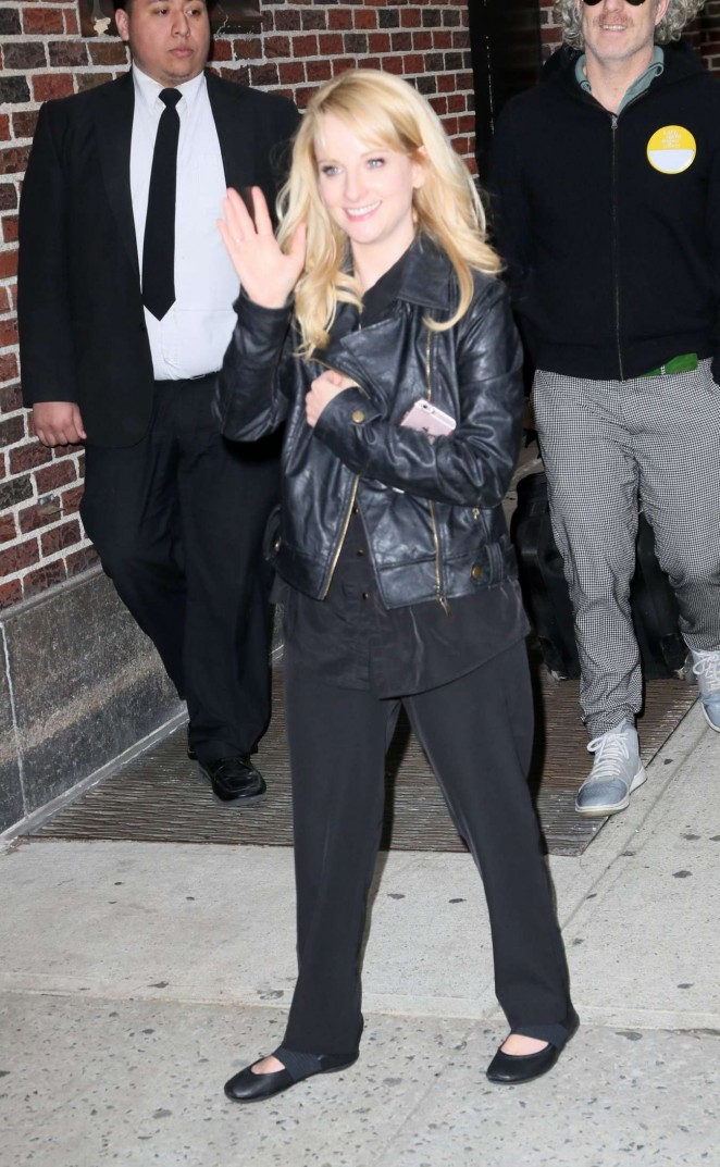 Melissa Rauch - Visits 'The Late Show with Stephen Colbert' in New York City