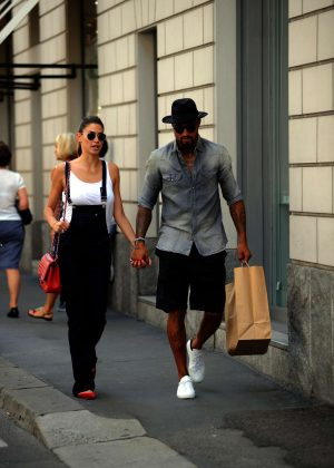 Melissa Satta and Kevin Prince out and about in Milan