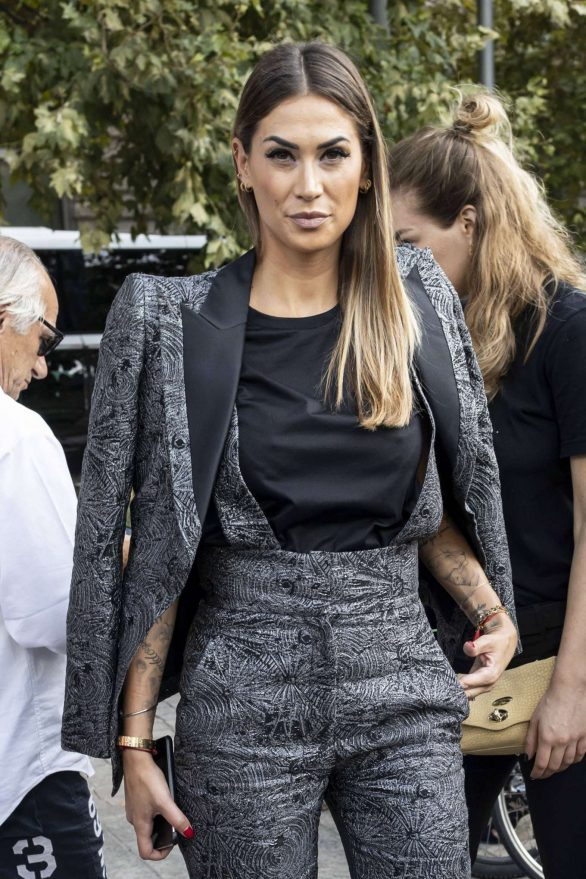 Melissa Satta - Arrives to Alberta Ferretti Show at Milan Fashion Week