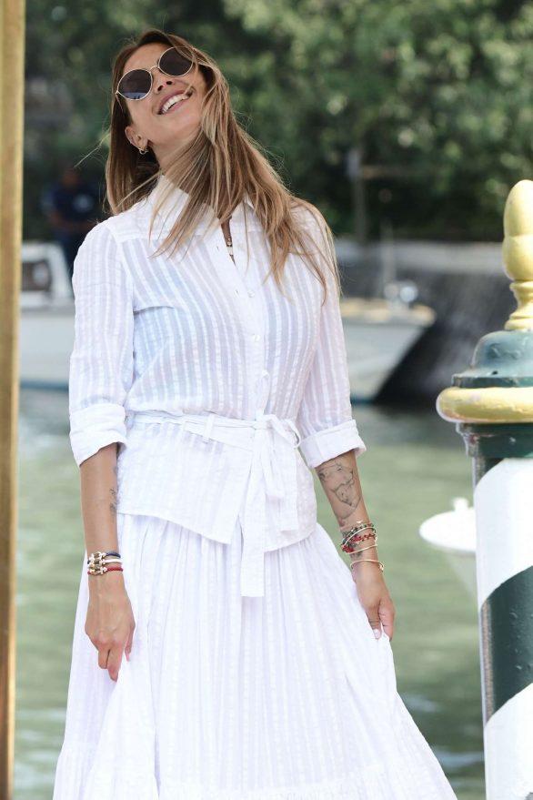 Melissa Satta - Arriving at 2019 Venice Film Festival