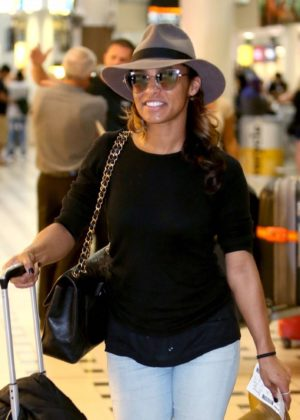 Melody Thornton - Arrives at airport in Brisbane