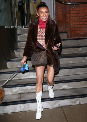 Melody Thornton in Mini Skirt - Out in London