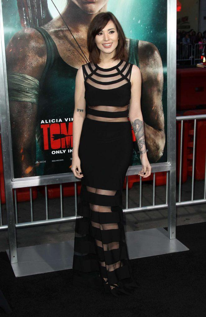 Melonie Mac - 'Tomb Raider' Premiere in Hollywood