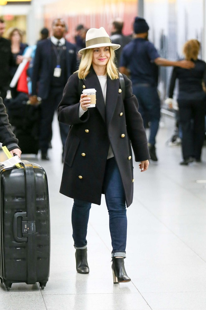 Mena Suvari at JFK Airport in New York