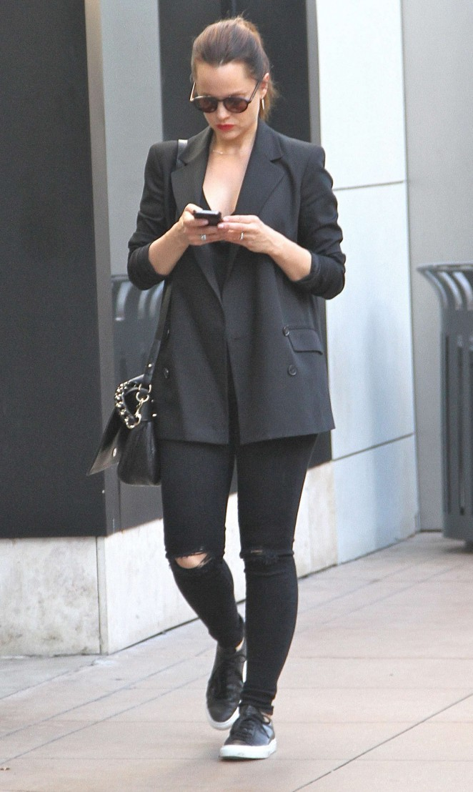 Mena Suvari at The Grove in West Hollywood