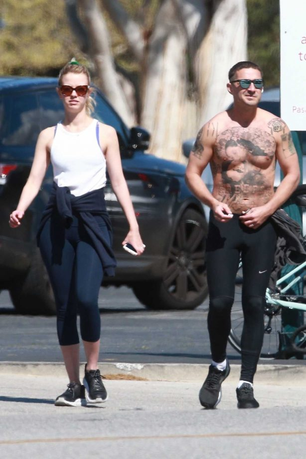 Mia Goth and Shia LaBeouf - Out in Los Angeles