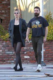 Mia Goth and Shia LaBeouf - Out in Los Feliz