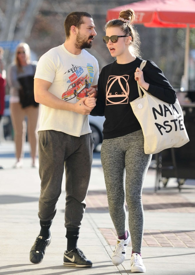 Mia Goth and Shia LaBeouf out in Studio City