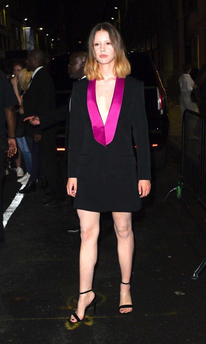 Mia Goth - Calvin Klein 2018 Fashion Show in NYC
