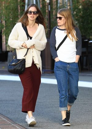 Mia Goth with a friend shopping in Beverly Hills