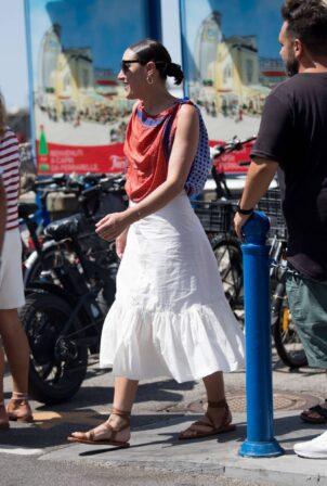 Mia Moretti - Ahead of the UNICEF italia and LuisaViaRoma summer gala in Capri