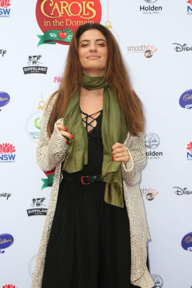 Mia Morrissey - Woolworths Carols in the Domain pre-show VIP Party in Sydney