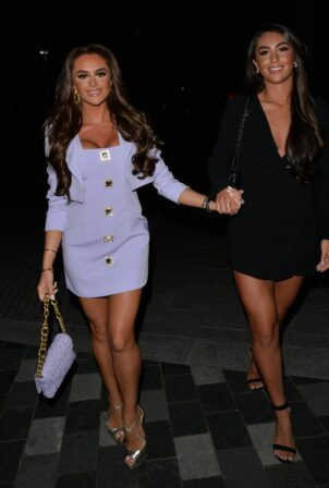 Mia Sully - Seen heading for a girls night out at Bagatelle in Mayfair