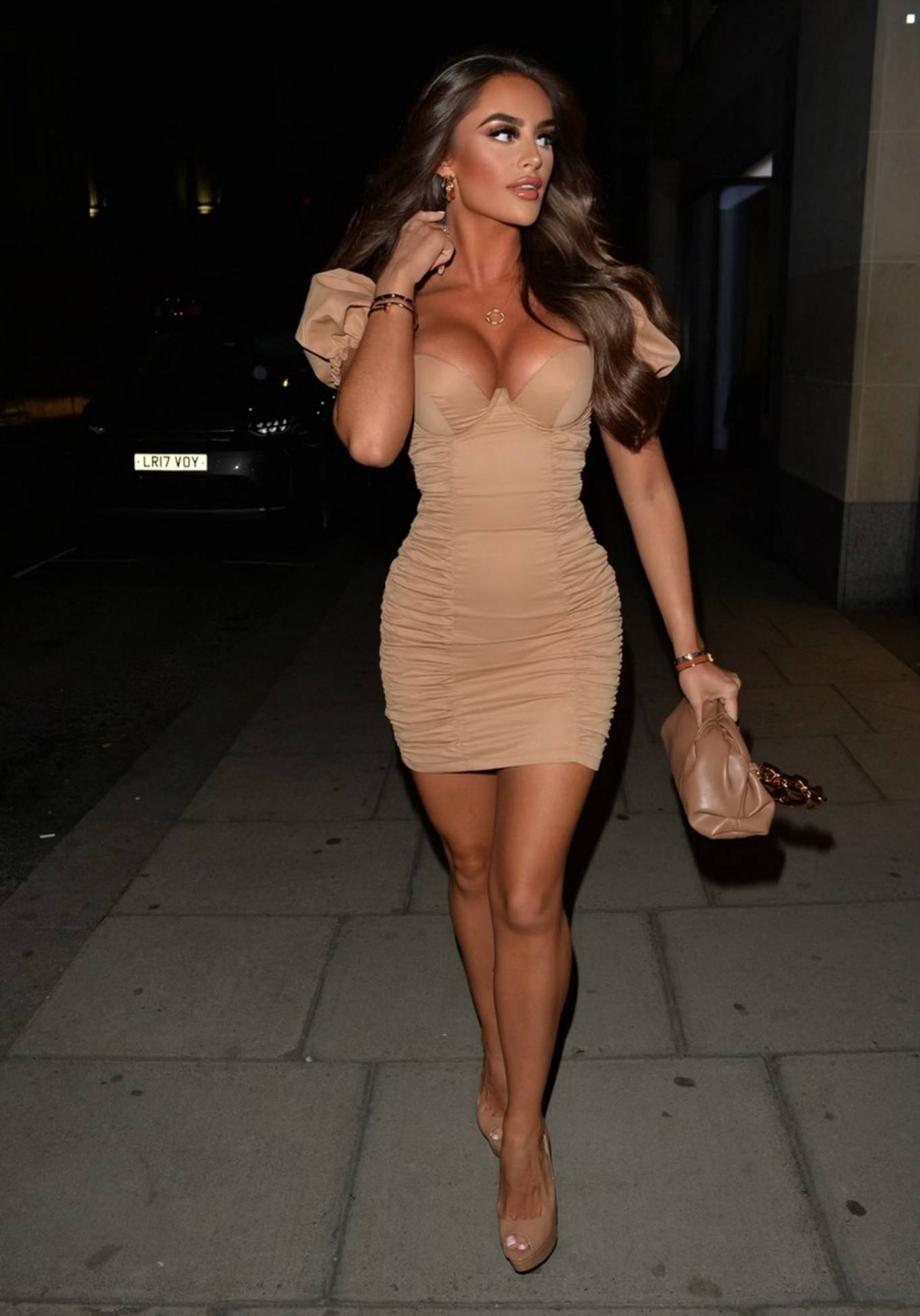 Mia Sully - Seen heading for a girls night out at MNKY house in London