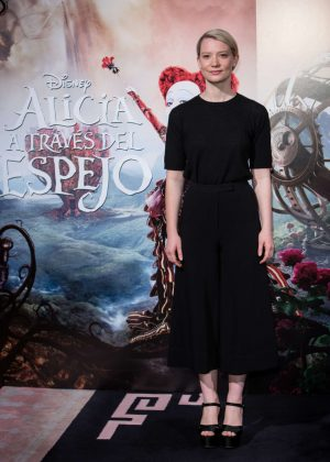 Mia Wasikowska - 'Alice Through The Looking Glass' Premiere in Madrid