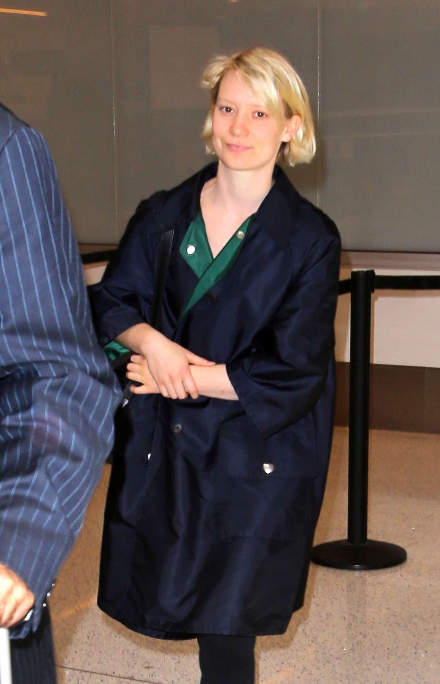 Mia Wasikowska at LAX Airport in Los Angeles
