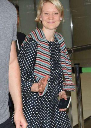 Mia Wasikowska at Narita International Airport in Japan