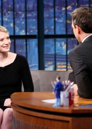 Mia Wasikowska - 'Late Night with Seth Meyers' in NYC