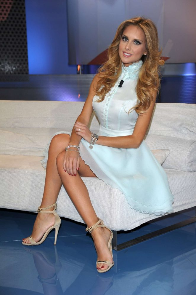 Michela Persico - TV Show 'Tiki Taka' in Milan