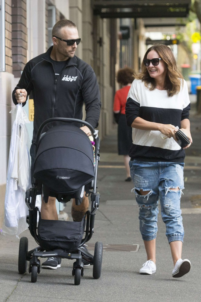 Michelle Bridges with her Family Out in Sydney