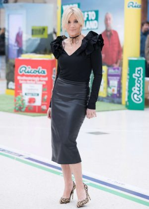 Michelle Collins at Ricola Sweets Launch in London