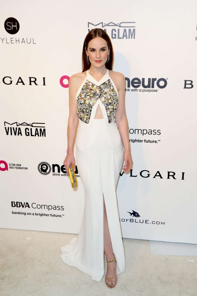 Michelle Dockery: 2017 Elton John AIDS Foundations Oscar Viewing Party -01