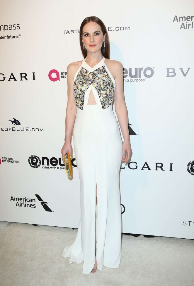 Michelle Dockery: 2017 Elton John AIDS Foundations Oscar Viewing Party -04
