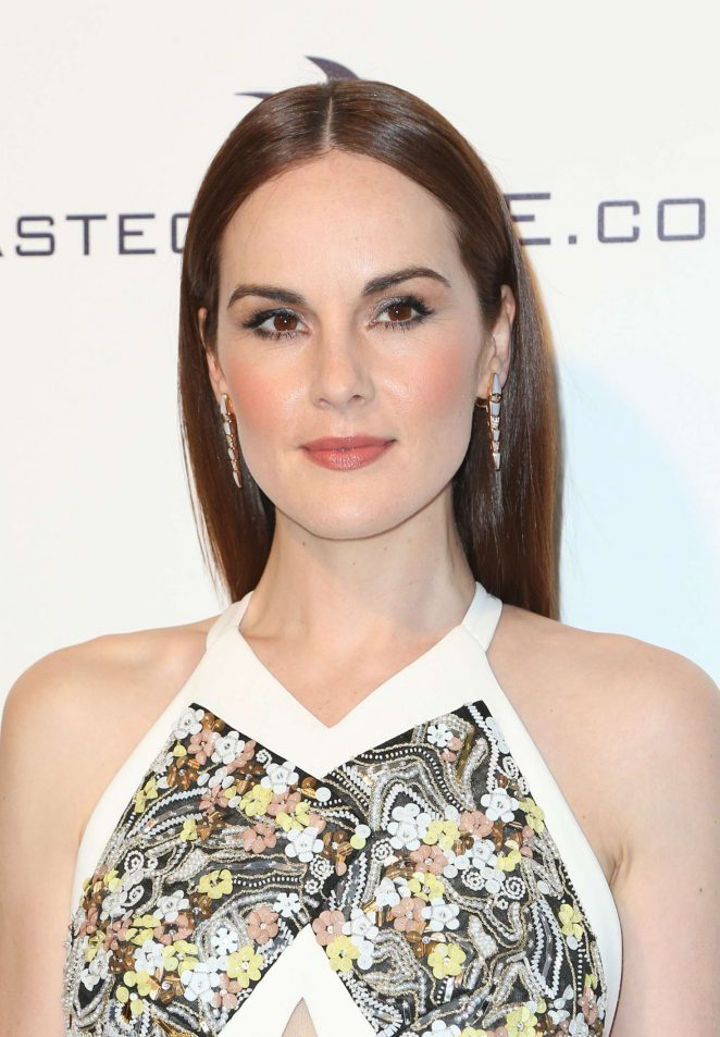 Michelle Dockery: 2017 Elton John AIDS Foundations Oscar Viewing Party -05