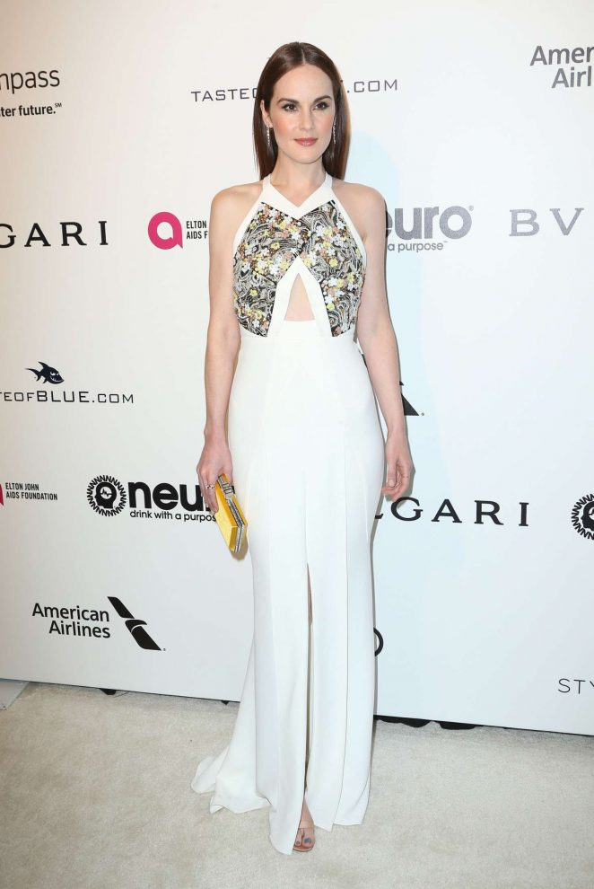 Michelle Dockery: 2017 Elton John AIDS Foundations Oscar Viewing Party -06
