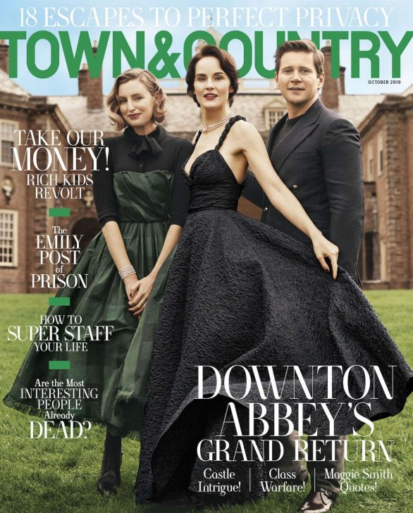 Michelle Dockery, Allen Leech and Laura Carmichael - Town & Country (October 2019)