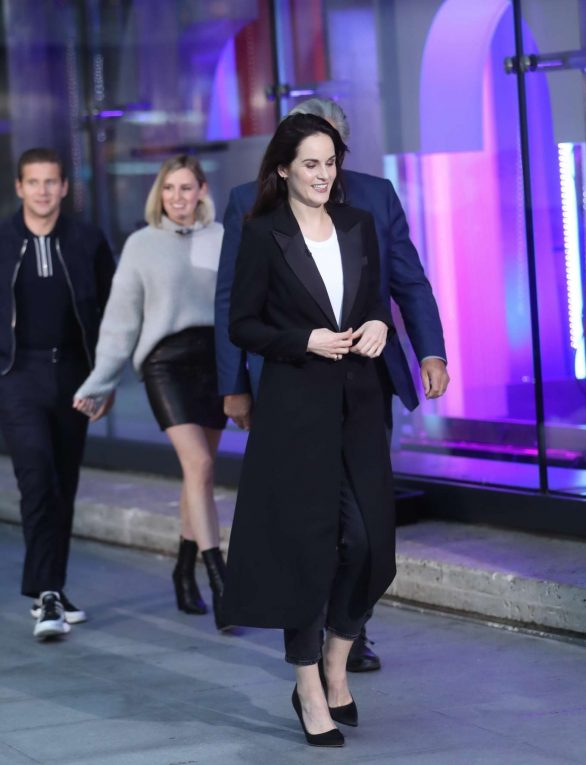 Michelle Dockery and Laura Carmichael - Arrive on set of The One Show in London