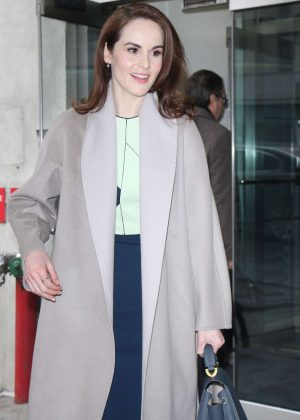 Michelle Dockery Arriving at 'CBS This Morning' TV show in New York