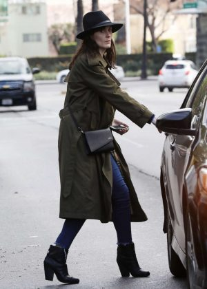 Michelle Dockery - Leaving Sugar Fish Sushi in Beverly Hills