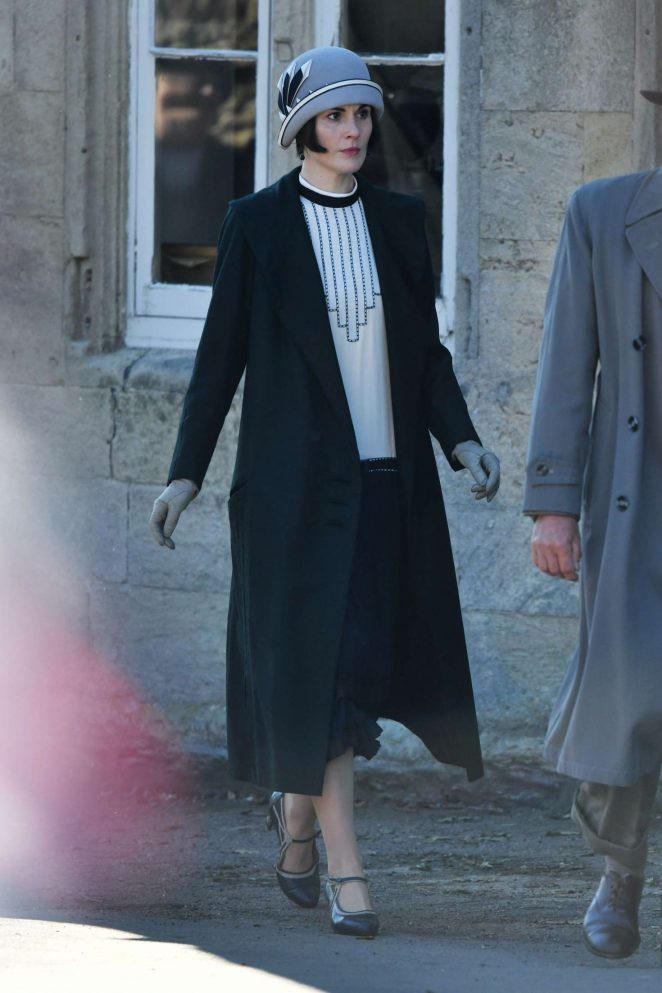 Michelle Dockery - On the 'Downton Abbey' Film Set in Lacock