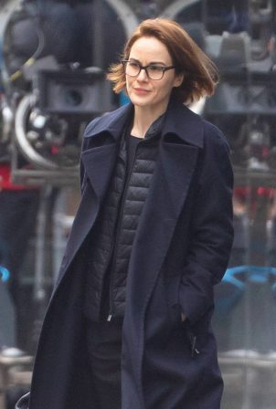 Michelle Dockery - Seen at the Old Bailey in London
