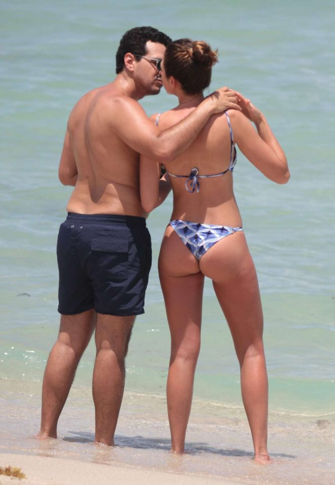 Michelle Fedalto - Bikini Candids at a Beach in Miami