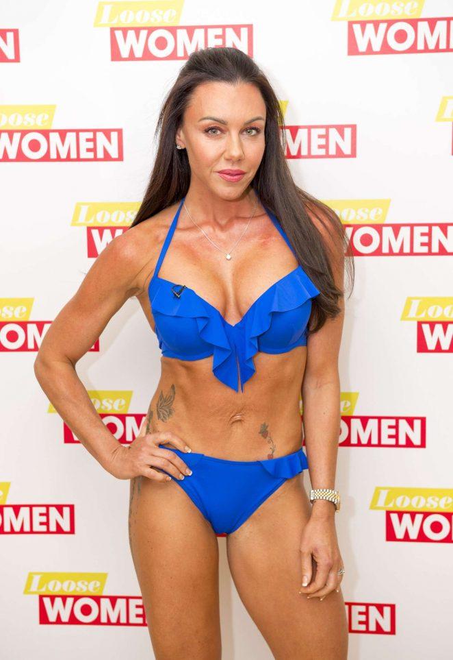 Michelle Heaton in Bikini at 'Loose Women' TV show in London