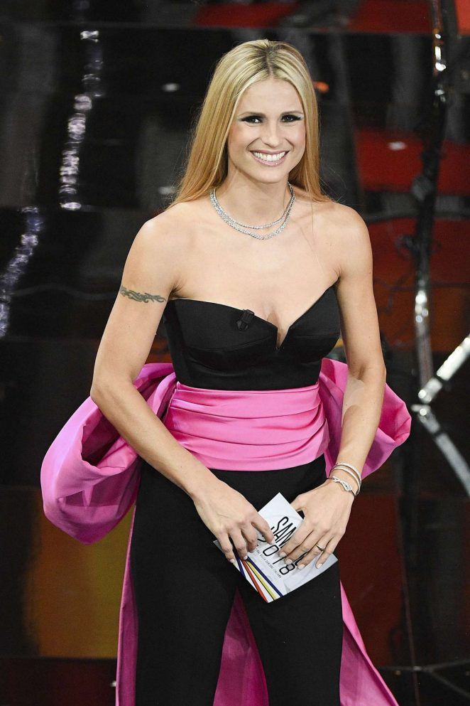 Michelle Hunziker - 68th Annual Sanremo Music Festival in Sanremo