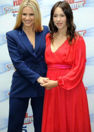 Michelle Hunziker and Aurora Ramazzotti - 'Do You Want To Bet' TV Show Photocall in Milan