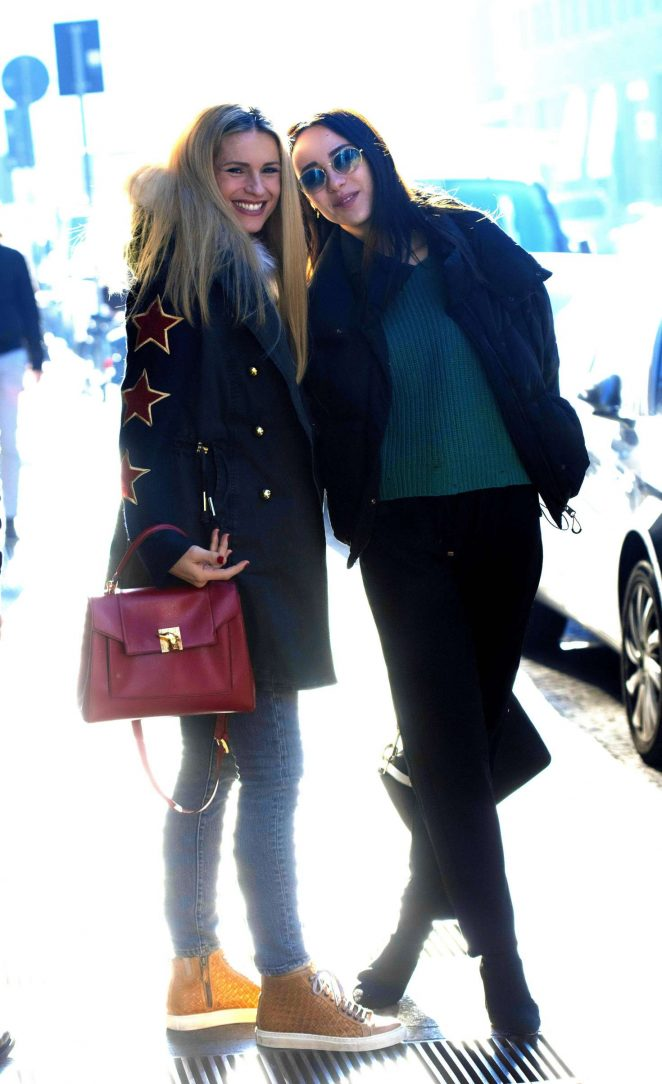 Michelle Hunziker and Aurora Ramazzotti – Out in Milan