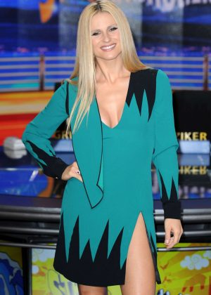 Michelle Hunziker at 'Striscia La Notizia' TV Show in Milan