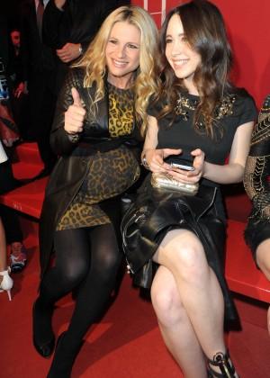 Michelle Hunziker & Aurora Ramazotti - Versace Fashion Show 2015 in Milan