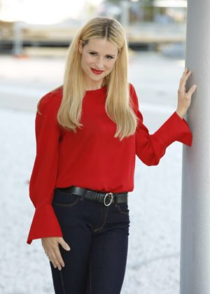 Michelle Hunziker - 'Double Defense - Killed in a Waiting for Judgement' Photocall in Rome