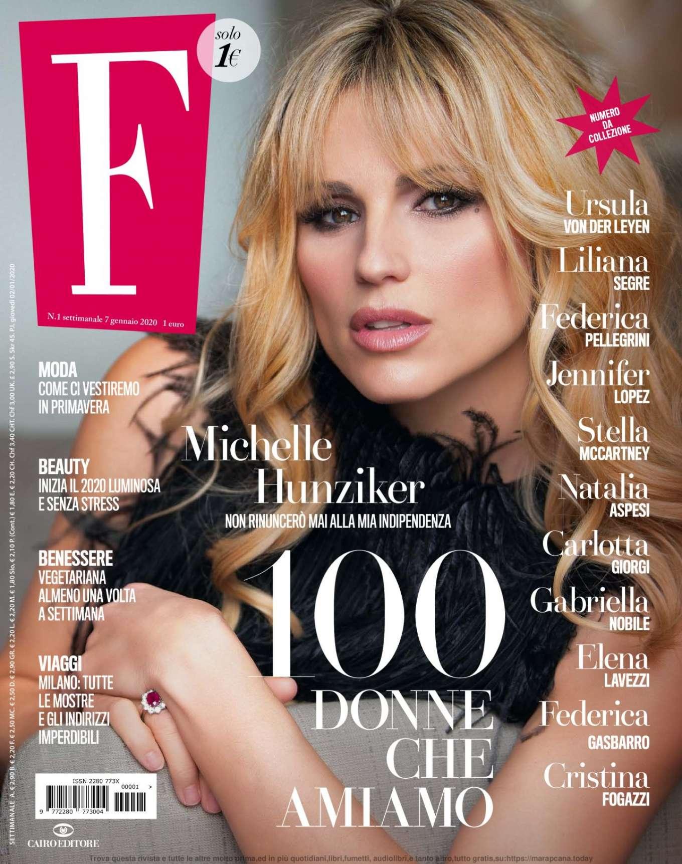 Michelle Hunziker - F Magazine January 2020
