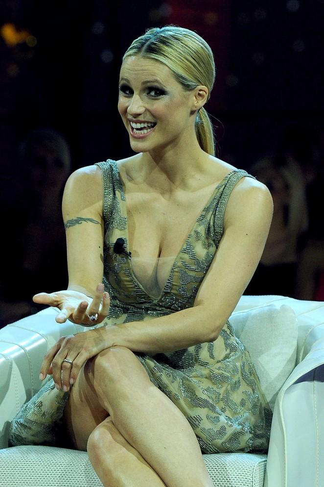 Michelle Hunziker - Guest in TV Show in Milan