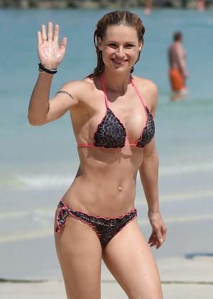 Michelle Hunziker in Bikini in Dubai