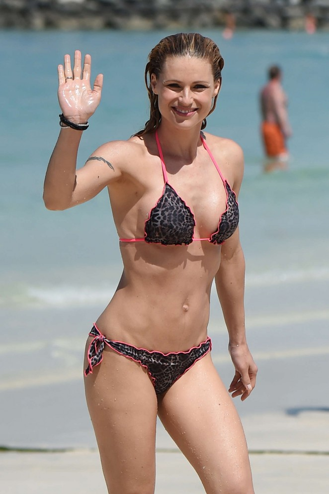 Michelle Hunziker in Bikini in Dubai