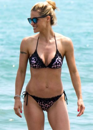Michelle Hunziker in Bikini in Milano Marittima