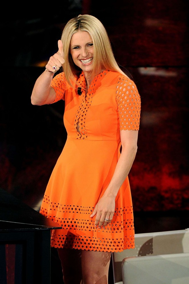 Michelle Hunziker on 'Che Tempo Che Fa' Italian TV Show