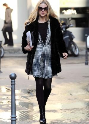 MicMichelle Hunziker in Mini Dress out in Milan